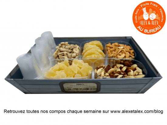 fruits au bureau Alex et Alex corbeille fruits secs s11