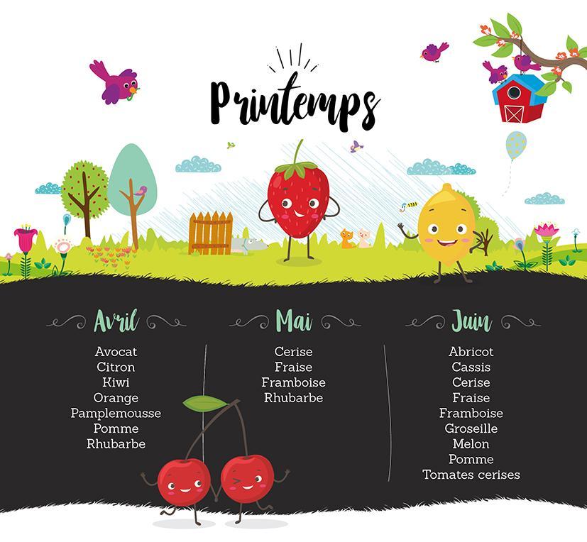 Infographie fruits printempsBD