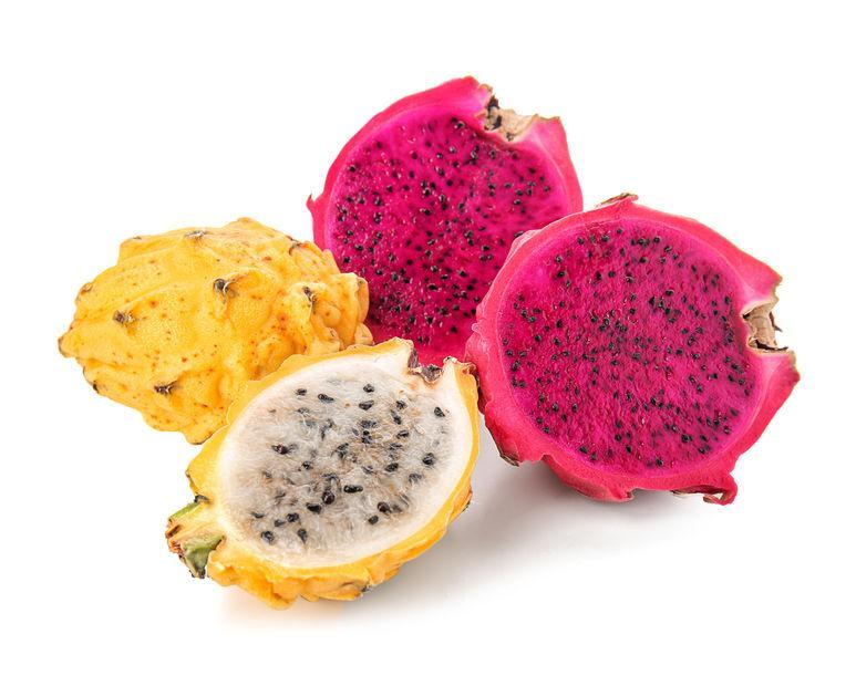 variétés de fruit du dragon rouge et jaune