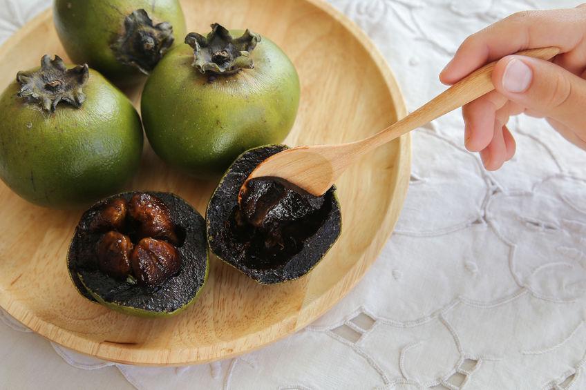 sapote noire un fruit à la pulpe chocolatée