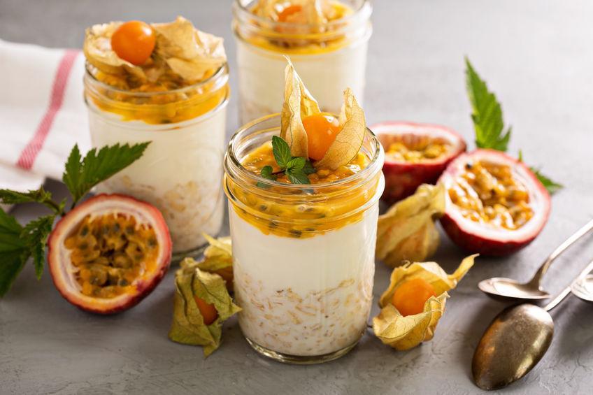 coqueretdu perou decorant  dessert aux fruits de la passion