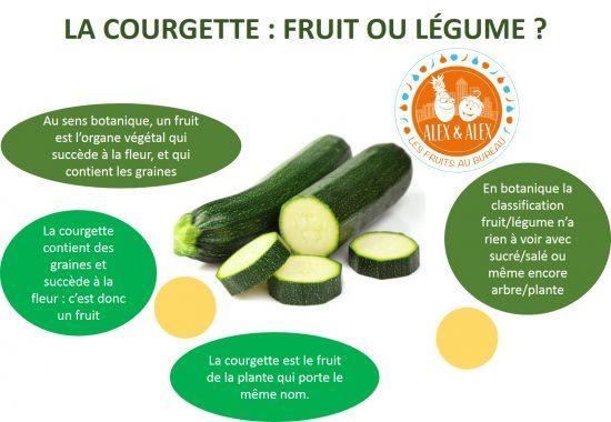 Courgette fruit ou légume