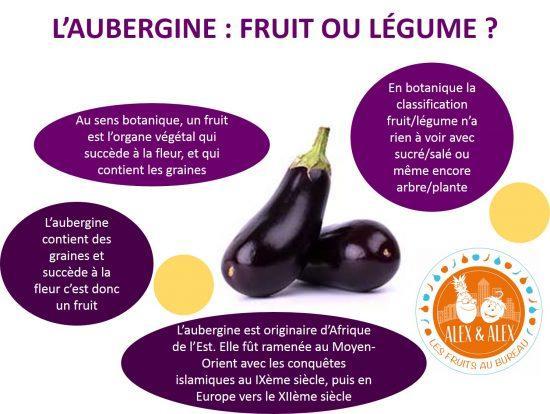 Aubergine fruit ou légume