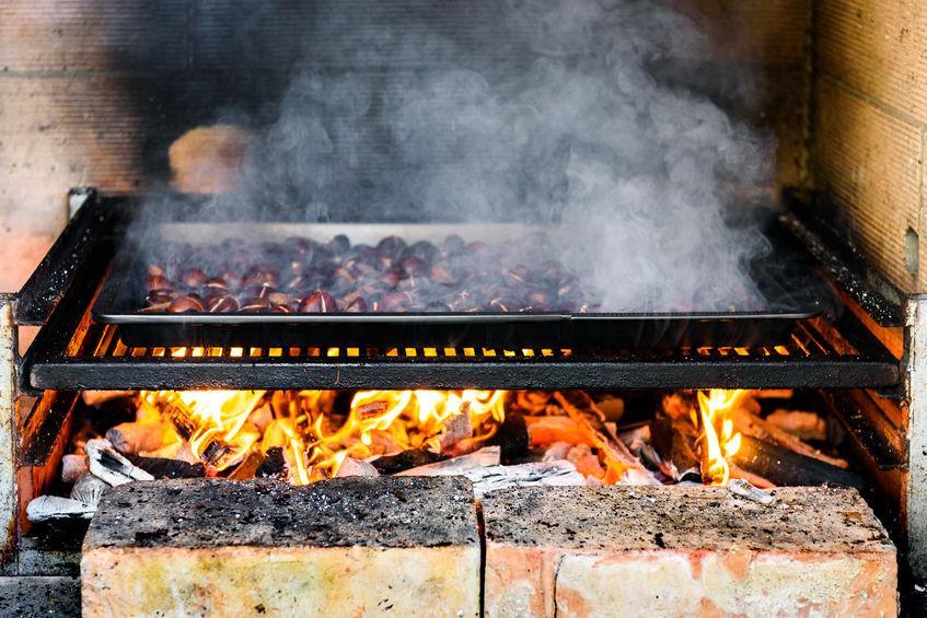 Cuisson châtaignes grillées au BBQ