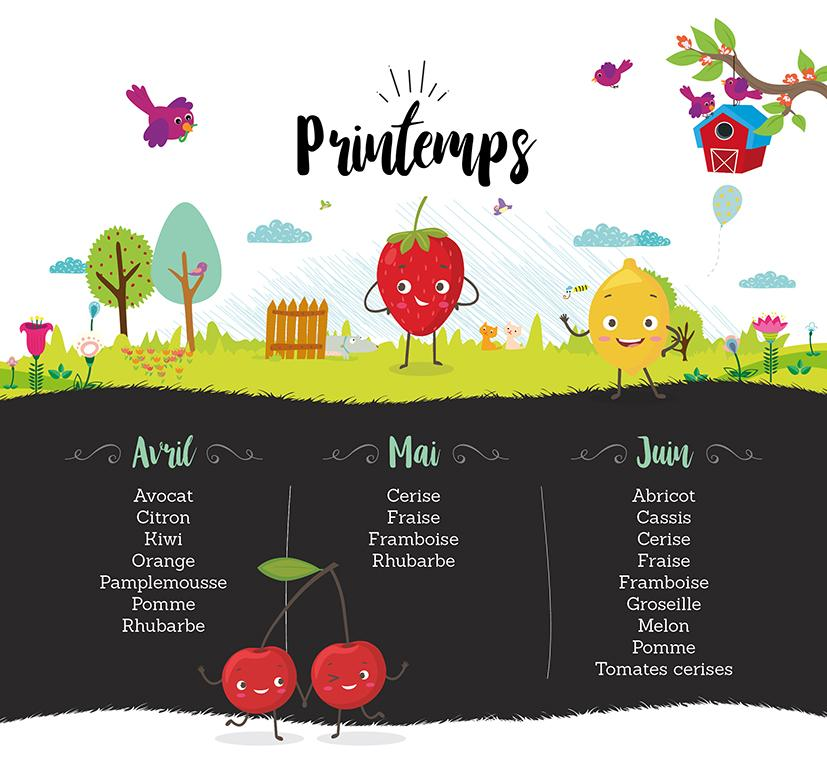 Infographie fruits printempsBD