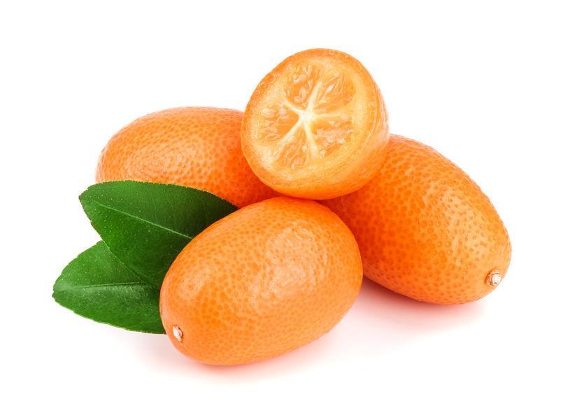 kumquat : zoom sur le fruit.