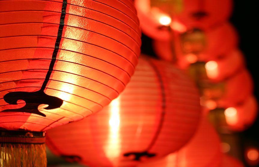 lanternes chinoises qui ressemblent à l'alkekenge